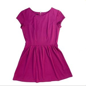BCX Jr's Fit & Flare dress with back zip opening